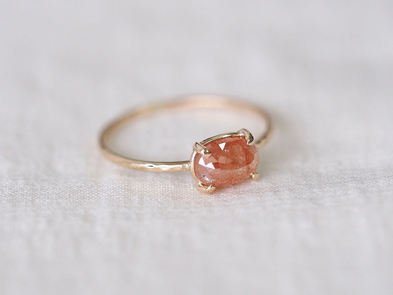 Raspberry Diamond Ring