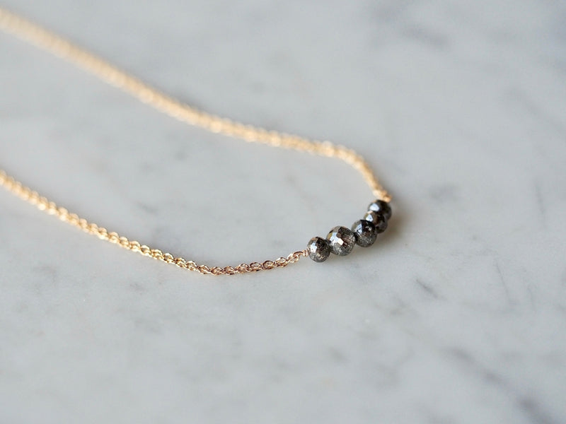 gentle love necklace black diamonds