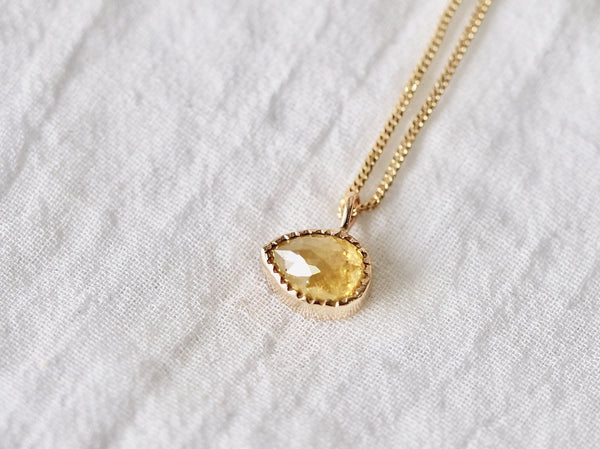 Sunshine drop diamond necklace
