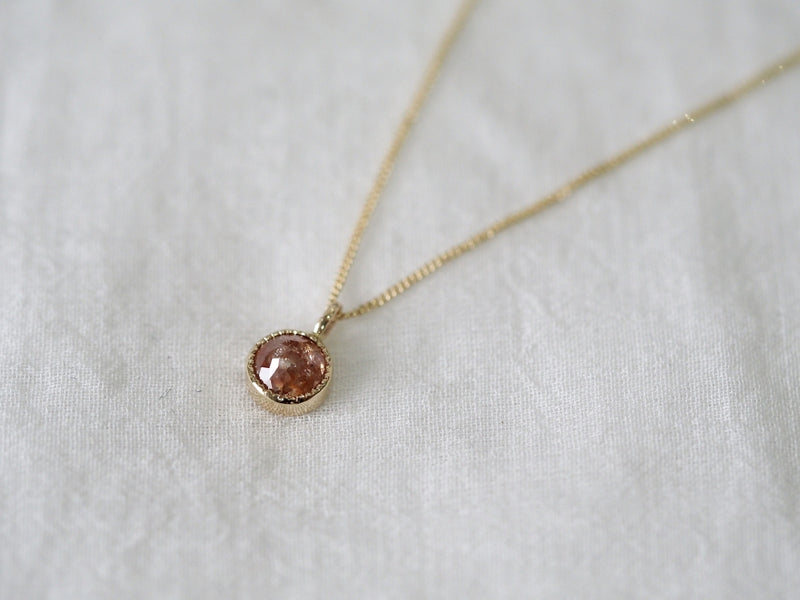 Sweet cherry diamond necklace