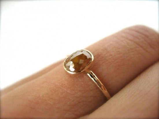 Orange Diamond Ring