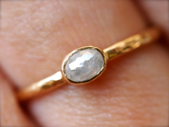 Classic White Oval Diamond Ring