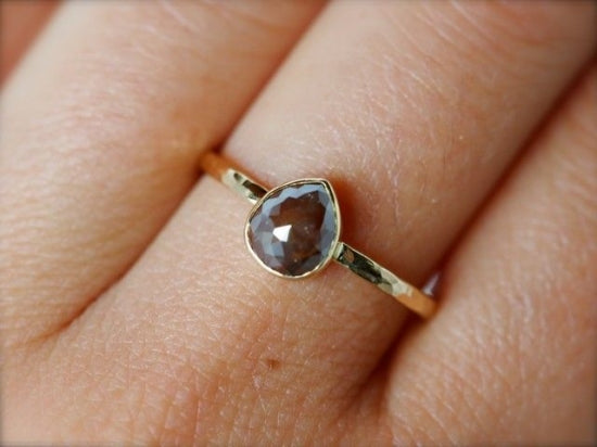 Russet Brown Diamond Ring