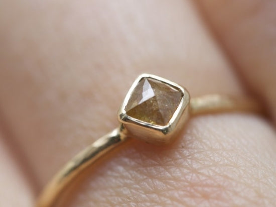 Orange Beige Diamond Ring