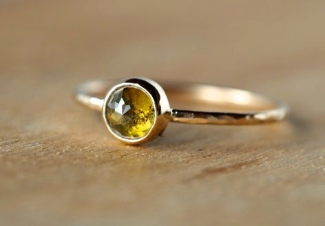 Juniper Green Diamond Ring