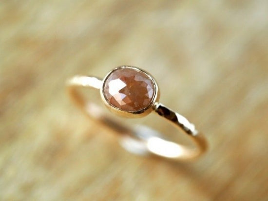 Toffee Oval Diamond ring