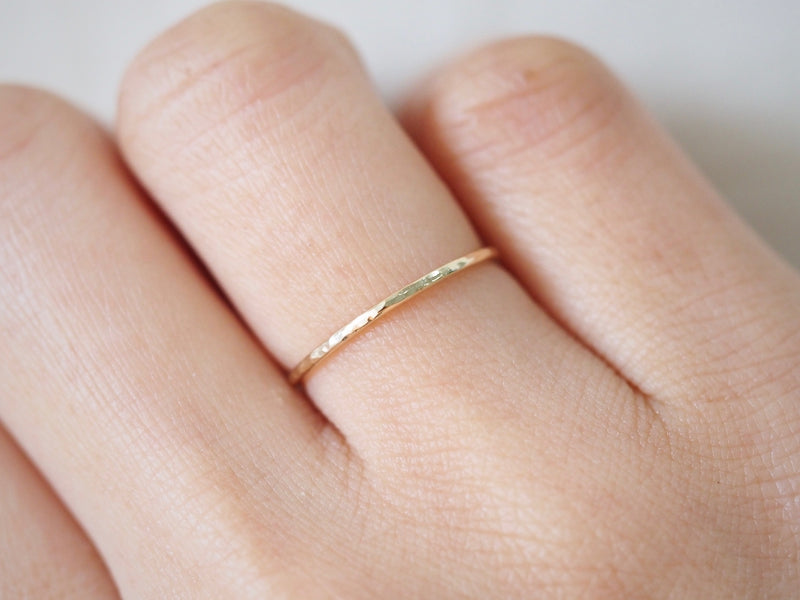 Hammered Stacking Ring Fine