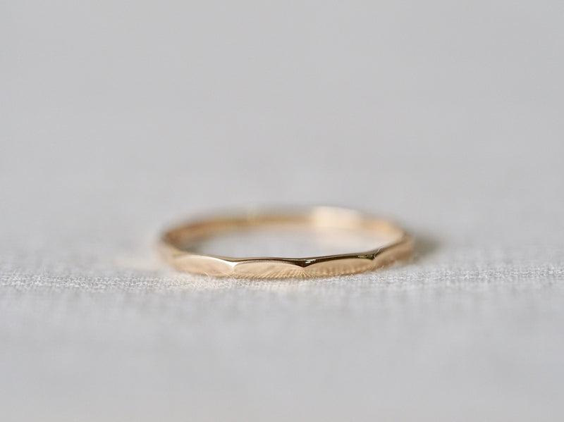 Faceted Stacking Ring