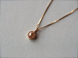 Beige Pink Diamond Necklace