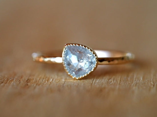 A Snowflake Diamond Ring