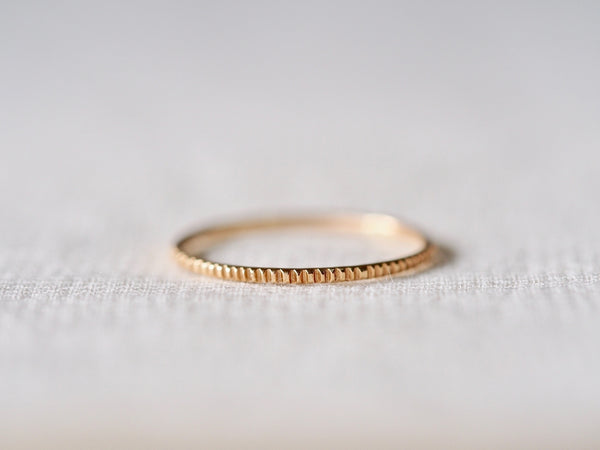 Milled Stacking Ring Fine