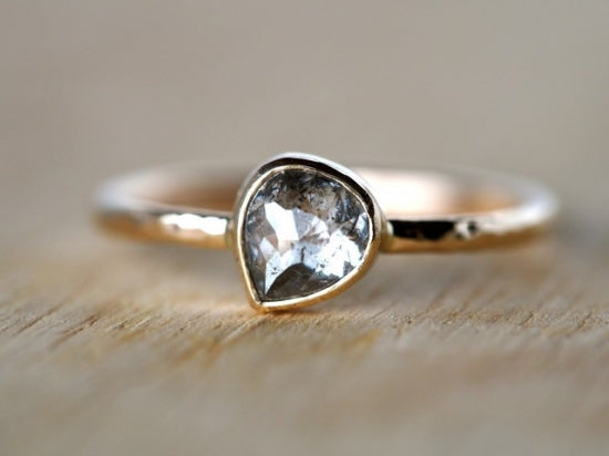A Moment's Reflection Diamond Ring Pear