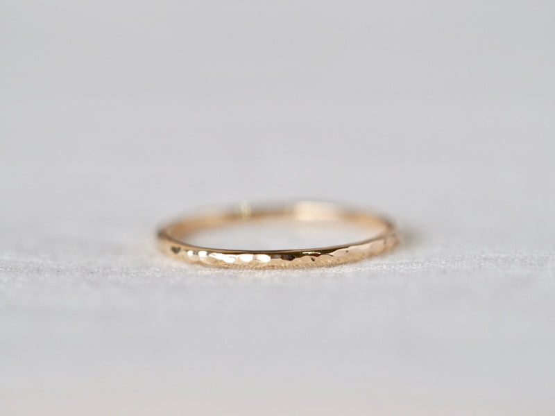 Hammered Stacking Ring Medium