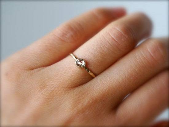 Champagne Free Form Diamond Ring