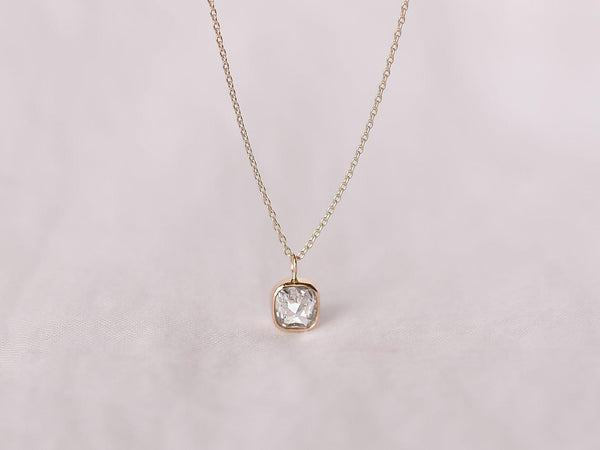 Stella Diamond Necklace Bezel Square
