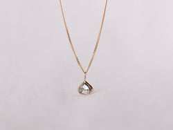 Stella Diamond Necklace Bezel Drop