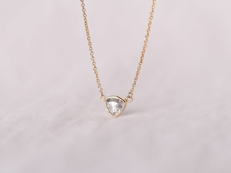 Stella Diamond Necklace Bezel Triangle