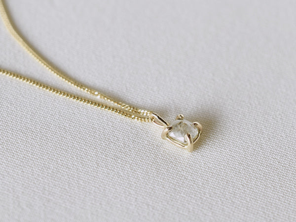 Pure drop diamond necklace