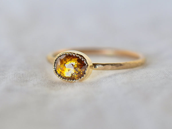 Honey brown diamond ring
