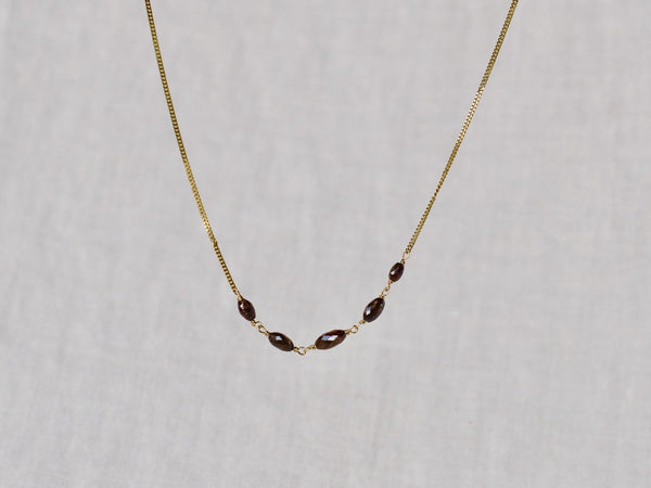 Chocolate diamonds necklace