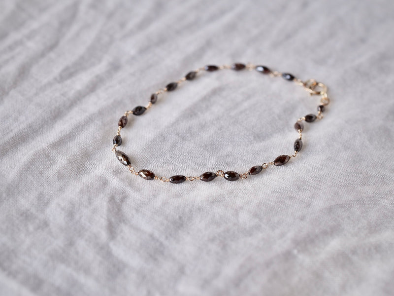Chocolate diamonds eternity bracelet
