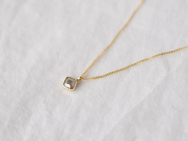 Baby Square Diamond Necklace
