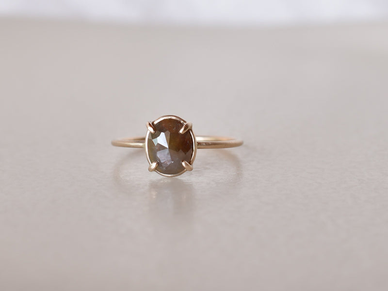 Frosted Diamond Ring Sepia Brown