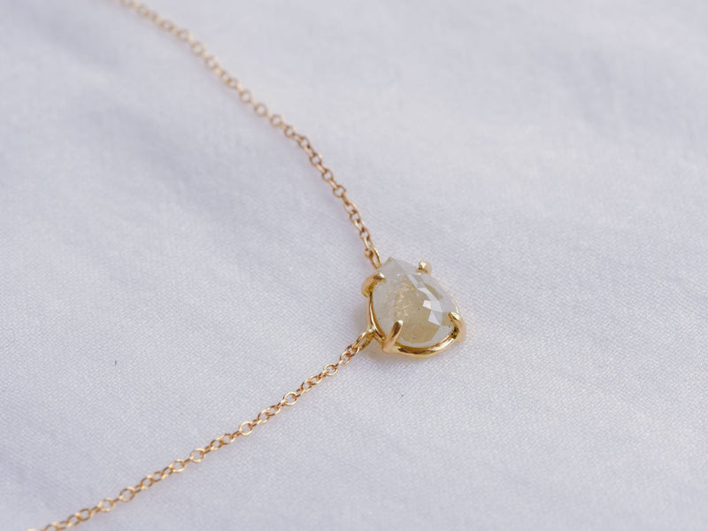 Ice Mint Drop Diamond Necklace