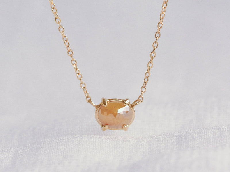 Orange Sunset Diamond Necklace