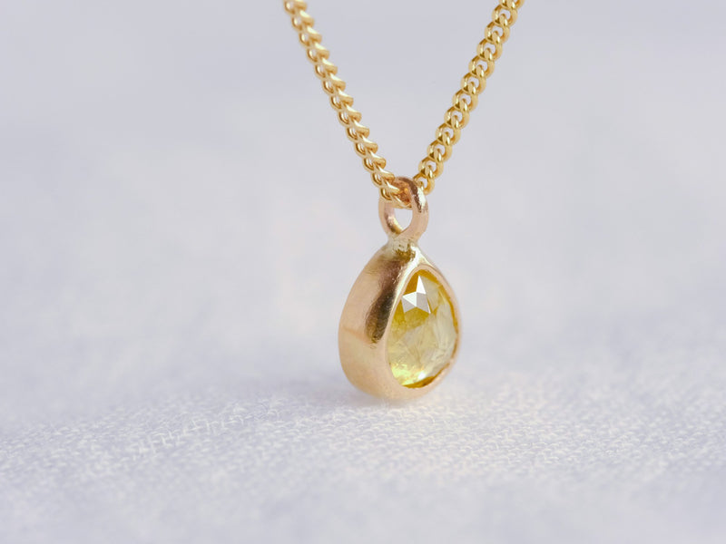 Baby Sunshine Drop Diamond Necklace