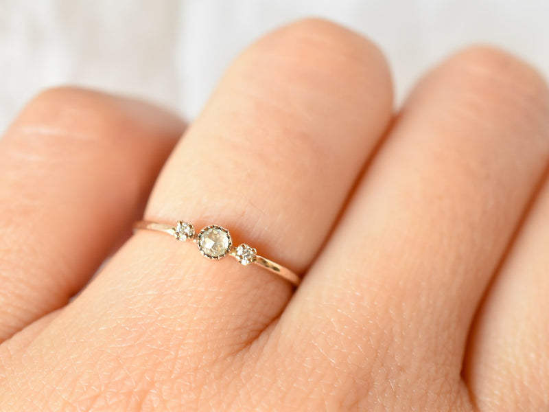 littlest bouquet ring white clover
