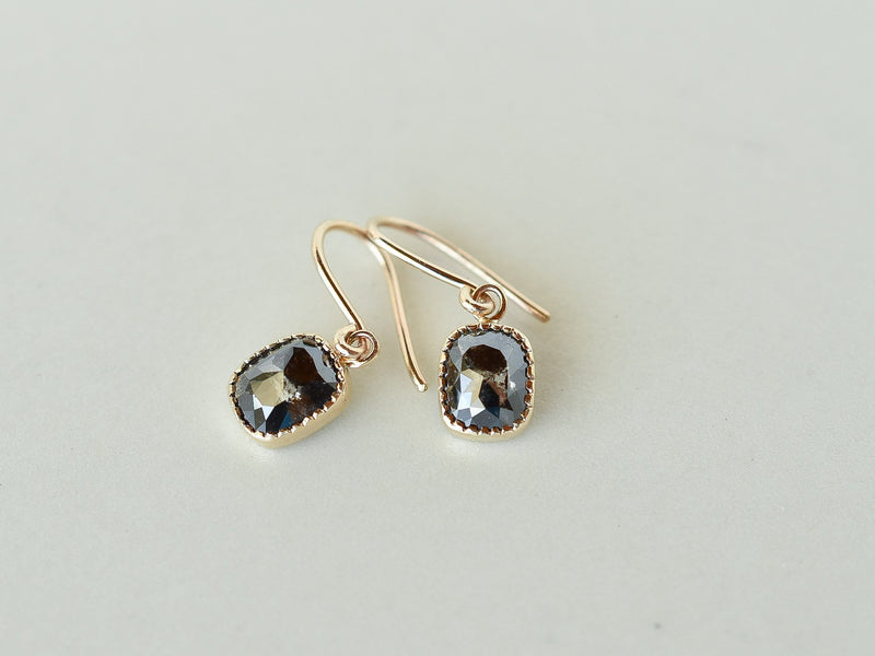Ombre Diamond Earrings Night Sky
