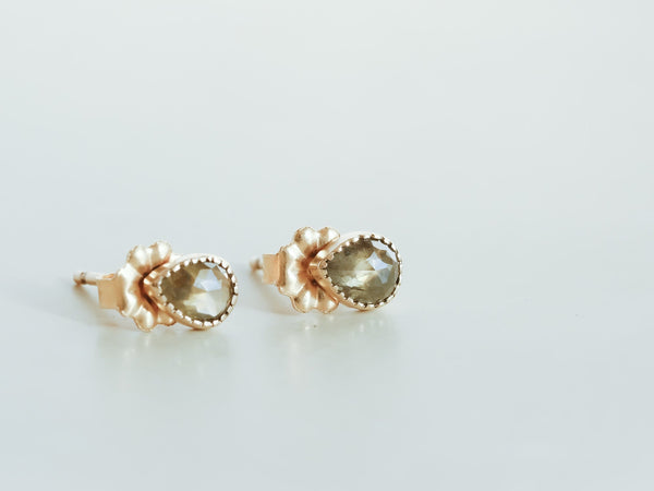 Moss lake diamond earrings