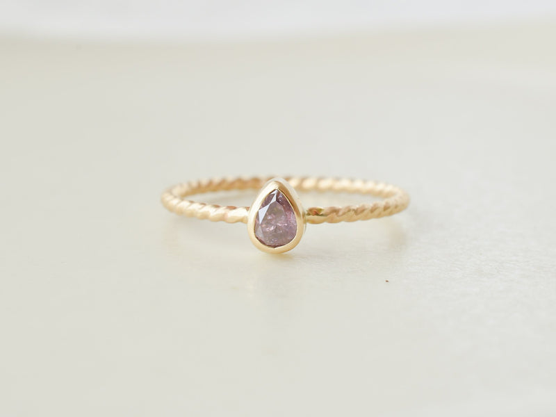 Lavender Diamond Ring