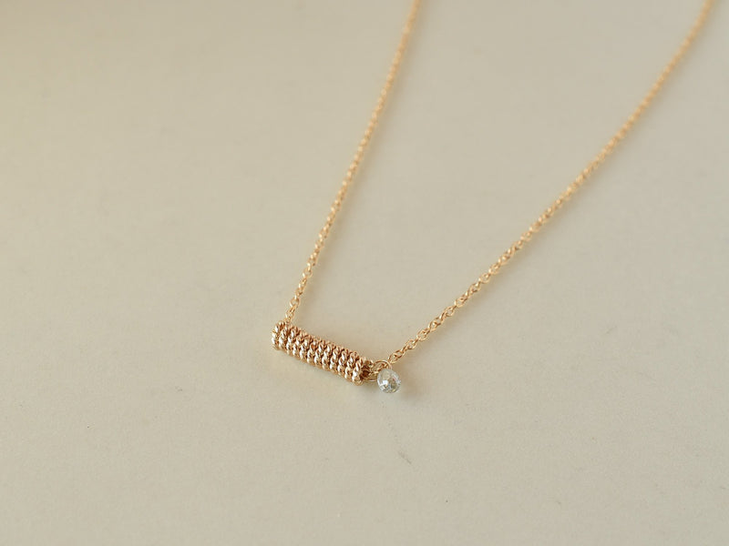 Baby Spiral Necklace with Diamond
