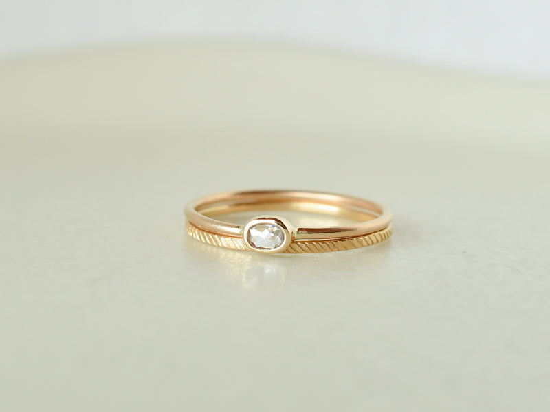 Stella Baby Diamond Ring Oval