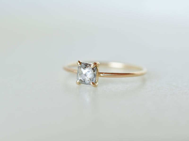 Stella Square Diamond Prong Ring
