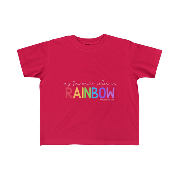 My Favorite Color is Rainbow (Toddler T-Shirt)