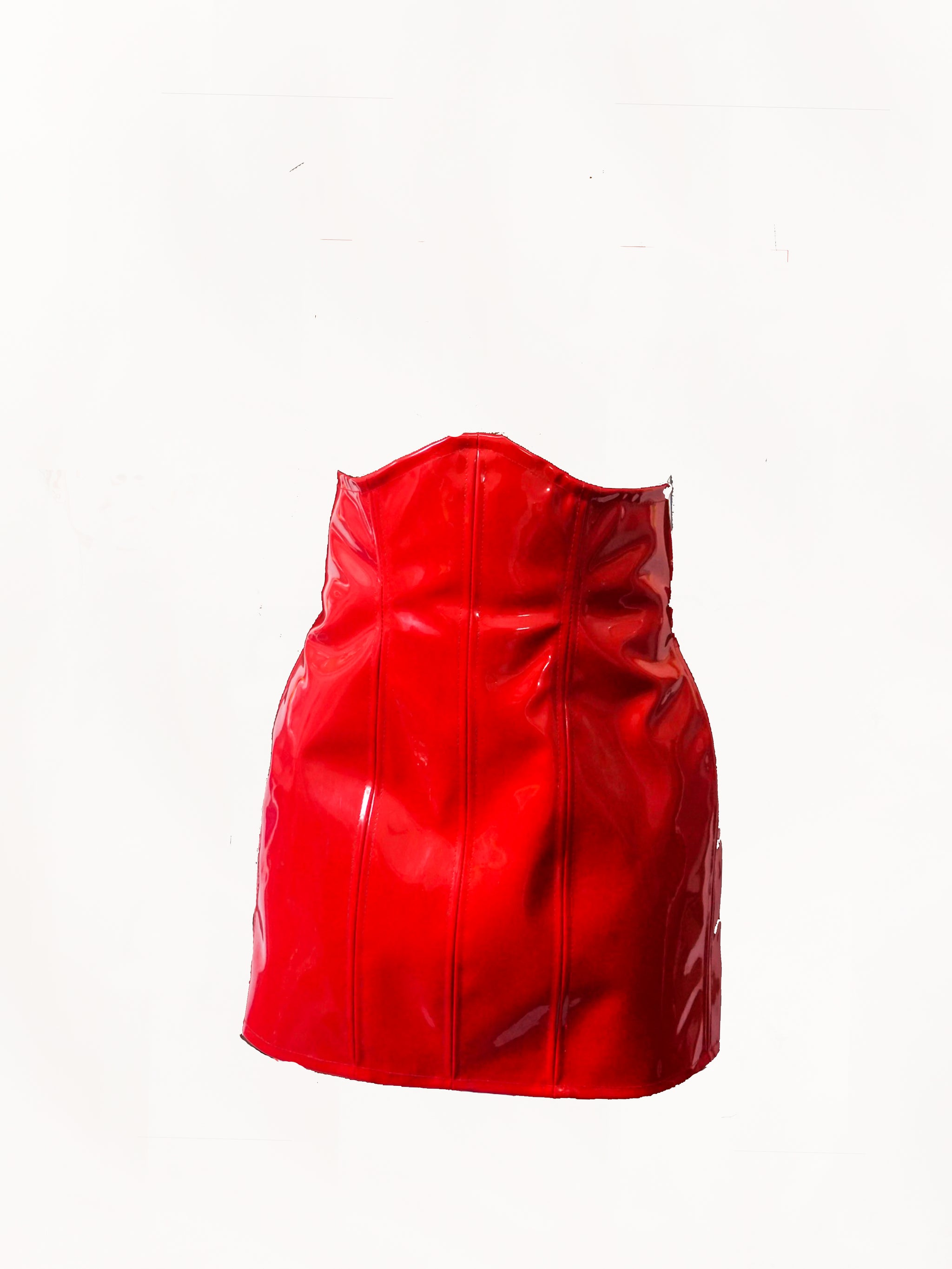 Corset Skirt - Red by GrayScale