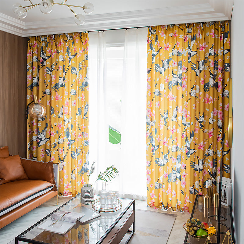 "New Collection of Curtain "" Crane"" arrives"