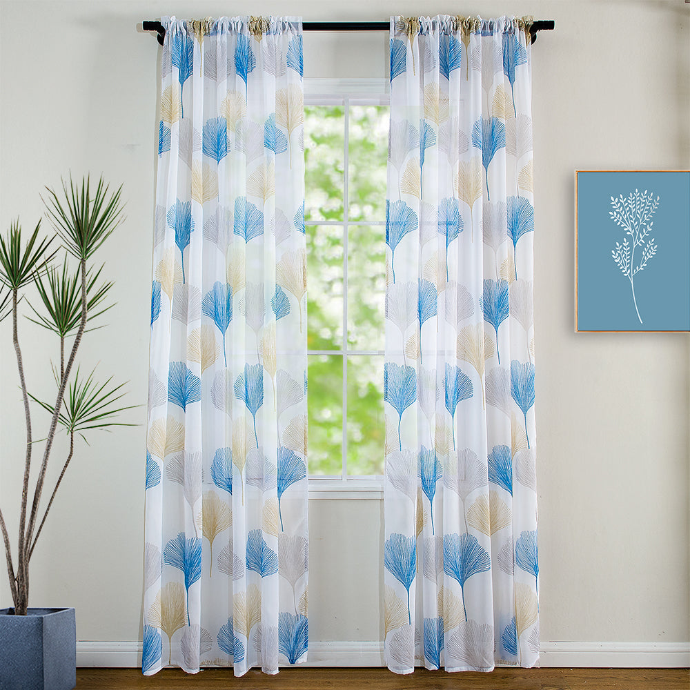 "New Product, Printed Sheer Panel"" Ginkgo"""