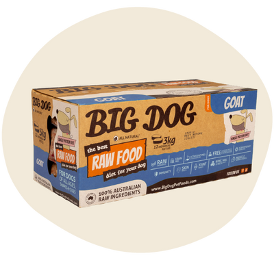 Big Dog Organic Goat 3kg - Maggies Dog Wellness