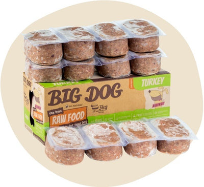 Big Dog Turkey 3kg - Maggies Dog Wellness
