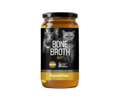 Organic Paws Beef Bone Broth - Maggies Dog Wellness