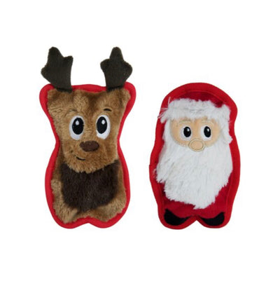 Santa & his reindeer invincibles dog toy - Maggies Dog Wellness