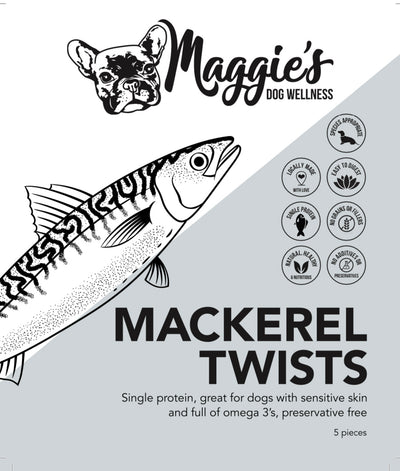 Mackerel Twists - Maggies Dog Wellness