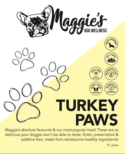 Maggie's Turkey Paws (available for local delivery & pick up only) - Maggies Dog Wellness