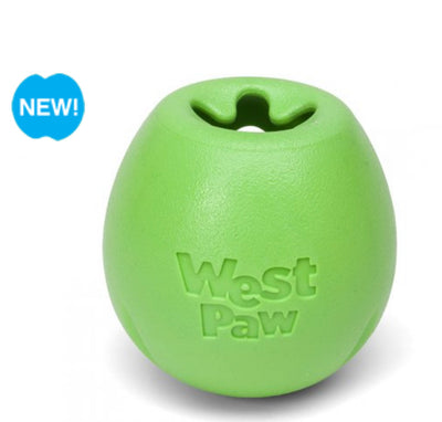 West Paw Rumbl Treat Dispensing Toy Green Large - Maggies Dog Wellness