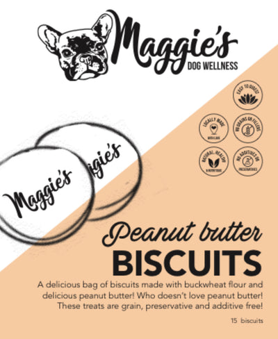 Maggie's Peanut Butter Biscuits - Maggies Dog Wellness