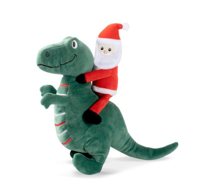 Santa-Saurus Rex Dog Toy - Maggies Dog Wellness